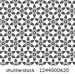 decorative vector seamless... | Shutterstock .eps vector #1244000620