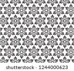 decorative vector seamless... | Shutterstock .eps vector #1244000623