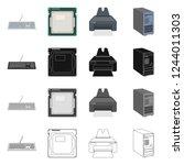 bitmap illustration of laptop... | Shutterstock . vector #1244011303