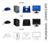 bitmap illustration of laptop... | Shutterstock . vector #1244011393