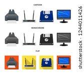bitmap illustration of laptop... | Shutterstock . vector #1244011426