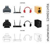 bitmap design of laptop and... | Shutterstock . vector #1244011456