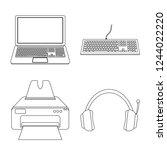 bitmap illustration of laptop... | Shutterstock . vector #1244022220