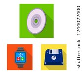 bitmap design of laptop and... | Shutterstock . vector #1244022400