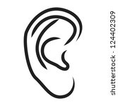 the human ear   vector... | Shutterstock .eps vector #124402309