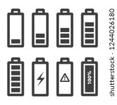 battery icons set. vector icons ...