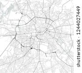 vector map of berlin  germany... | Shutterstock .eps vector #1244027449