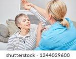 physiotherapist makes... | Shutterstock . vector #1244029600