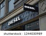 london  november  2018  diesel... | Shutterstock . vector #1244030989