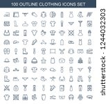 clothing icons. set of 100...   Shutterstock .eps vector #1244032303