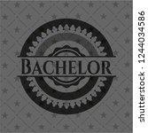 bachelor black emblem | Shutterstock .eps vector #1244034586