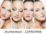 collage of a beautiful woman... | Shutterstock . vector #124403908