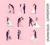 flat style illustration with... | Shutterstock .eps vector #1244039239