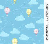 balloons in the clouds. baby... | Shutterstock .eps vector #1244042899