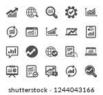analytics  statistics icons.... | Shutterstock .eps vector #1244043166
