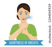 common symptom of panic...   Shutterstock .eps vector #1244045929