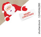 santa claus holding a sign. eps ... | Shutterstock .eps vector #1244046280
