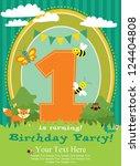 Happy Birthday Card. Forest...