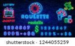 Casino Roulette Neon Sign....