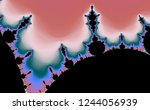 pastel color fractal in high... | Shutterstock . vector #1244056939