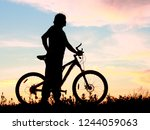 bicycle  bike  cycle emotional... | Shutterstock . vector #1244059063