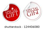 special gift stickers | Shutterstock .eps vector #124406080