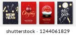 new year and christmas cards.... | Shutterstock .eps vector #1244061829