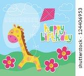 Happy Birthday Card Design With ...