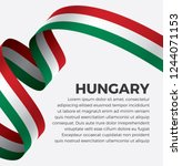 hungary flag  vector... | Shutterstock .eps vector #1244071153