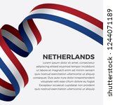 netherlands flag  vector... | Shutterstock .eps vector #1244071189