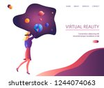 web page with vr concept.... | Shutterstock .eps vector #1244074063