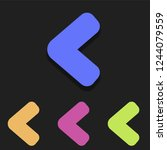 left arrow icon in multicolor....