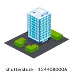 exterior of facade  building of ... | Shutterstock .eps vector #1244080006