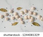 pattern of frozen uncooked... | Shutterstock . vector #1244081329
