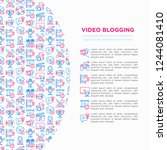 video blogging concept with... | Shutterstock .eps vector #1244081410