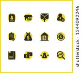 work icons set with outgoing...