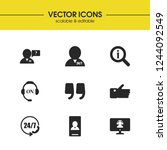 help icons set with loupe... | Shutterstock .eps vector #1244092549