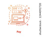 cashless payment concept icon.... | Shutterstock .eps vector #1244092720