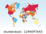 world map vector   Shutterstock .eps vector #1244097643