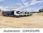 fleet of vehicles to transport...   Shutterstock . vector #1244101090