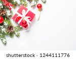 christmas background. red... | Shutterstock . vector #1244111776