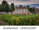 peccioli  pisa  tuscany  ... | Shutterstock . vector #1244112109