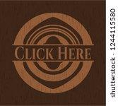 click here retro wood emblem   Shutterstock .eps vector #1244115580
