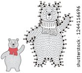 connect the dots and draw a...   Shutterstock .eps vector #1244116696