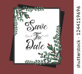 save the date with floral... | Shutterstock .eps vector #1244119696
