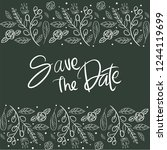 save the date wedding... | Shutterstock .eps vector #1244119699