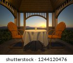 3d Cg Rendering Of Cottage Patio