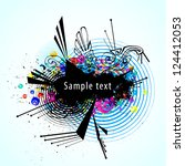 abstract vector colorful... | Shutterstock .eps vector #124412053