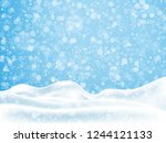 hristmas  new year background... | Shutterstock .eps vector #1244121133