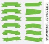 flat vector ribbons banners... | Shutterstock .eps vector #1244121319